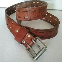 Fossil Fuel Men's Casual Fashion Brown Leather Belt Size 38 Photo