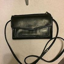 Fossil Full Wallet Messenger Black Leather Phone Pouch on Back Photo