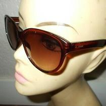 Fossil Fw124 Tortoise Frame Brown Lenses Sunglasses Photo
