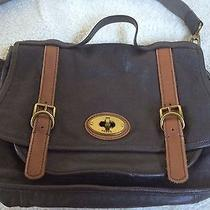 Fossil Genuine Brown Leather Laptop Bag  Photo