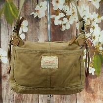Fossil Genuine Classic 1954 Tan Canvas Messenger/crossbody Bag  Photo