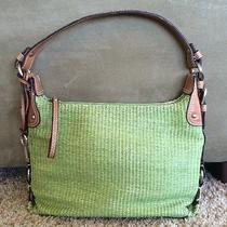 Fossil Genuine Classic Woven Green Shoulder Bag Photo