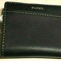 Fossil Genuine Leather Black Mini wallet.nwt. Photo