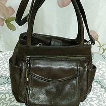 Fossil Genuine Leather Brown Handbag  Crossbody American Classic Key 75082  Photo