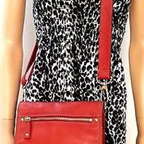 Fossil Genuine Leather Burnt Red & Orange Small to Medium Messenger Bag (Hb-762) Photo