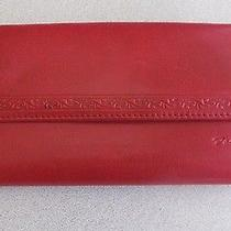Fossil Genuine Leather Clutch Wallet Red  Photo
