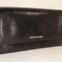 Fossil-Genuine Leather Flap Checkbook Clutch Wallet-Black Photo