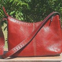 Fossil Genuine Leather Red Handbagzb9092 Photo