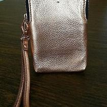 Fossil Genuine Leather Rose Gold Tone Phone Wristlet Photo