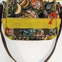 Fossil Geo Floral Coated Canvas Key Per Flap Crossbody Messenger Bag Large Photo