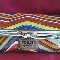 Fossil Geometrical Make Up Case Wallet Clutch Very Cute Photo