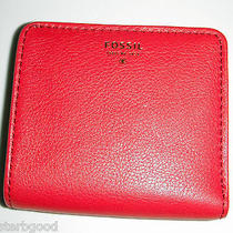 Fossil Gift Bifold Wallet Red Leather 35 Photo
