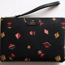 Fossil Gift Black Multi Print Wristlet Sl6821016 Nwt Nib Photo