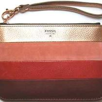 Fossil Gift Pw Sm Pouch Red Multiple Wristlet Leather Wallet  Photo