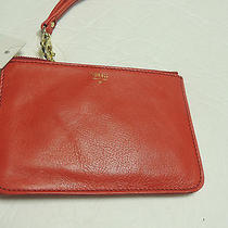 Fossil Gift Small Pouch in Real Red Nwt Photo