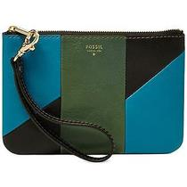 Fossil Giftable Patchwork Small Wristlet (Green Multi) Photo