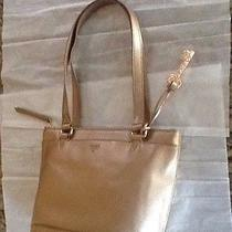 Fossil Gifting Leather Tote Bagshopperbeautiful Pale Rose Metallic Nwt 188 Photo