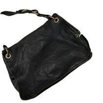 Fossil Gorgeous Black Leather Messenger Style Bag Slouched Medium/large Photo