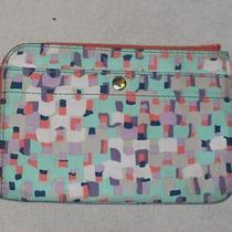Fossil Green Abstract Wristlet With Snap Front Pocket Photo