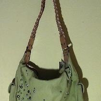 Fossil Green Canvas Hobo Shoulder Purse Photo