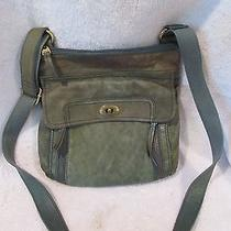 Fossil Green Leather Crossbody Photo