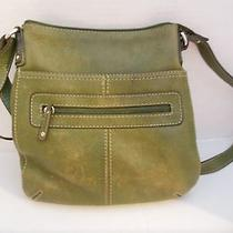 Fossil Green Leather Crossbody Bag  75082 Purse Photo