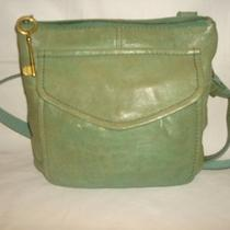 Fossil Green Leather Crossbody Purse Bag Photo