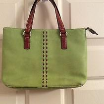 Fossil Green Leather Handbag  Photo