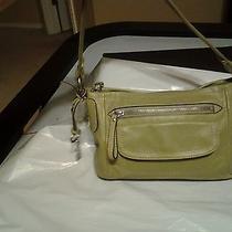 Fossil Green Leather Long Live Vintage  Shoulder Handbag Photo