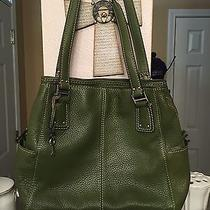 Fossil Green Leather Shoulder Purse  Photo