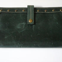 Fossil Green Leather Wallet Check Book New Photo