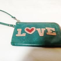 Fossil Green Leather Wrist Orgonizer  Bag Photo