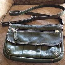 Fossil Green Pebbled Leather Crossbody Handbag Photo