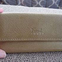Fossil Green Pebbled Leather Wallet Euc Photo