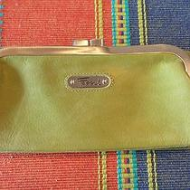 Fossil  Green Trifold Leather  Flap Closure Wallet Photo