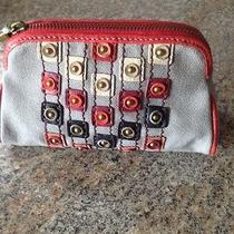 Fossil Grey Small Cosmetic Bag-Stud Design Photo