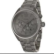 Fossil Gunmetal Stainless Steel Flight Chronograph Mens Watch Ch2802 Photo