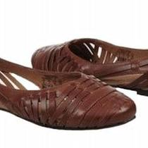 Fossil Hailey Womens Hurache Russet/ Brun Roux Flats Size 6.5 Photo