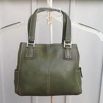 Fossil Handbag Beautiful Green Lots of Storage Beautiful Leather Photo