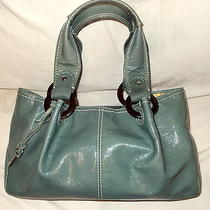 Fossil Handbag  Beautiful Sea Green Gray Color  a Fossil Beautiful Purse  Photo