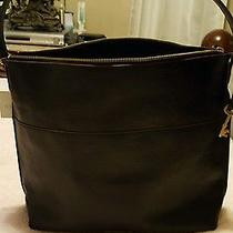 Fossil Handbag Brand New With Tags With Key Black Leather Really Nice.  Photo
