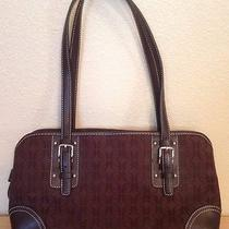 Fossil Handbag Brown Shoulder Bag Canvas Purse Photo