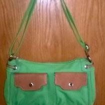 Fossil Handbag Green Canvas. Photo