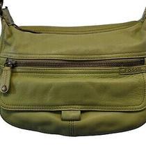Fossil Handbag Hobo Shoulder Bag Purse Green Leather Medium  Photo