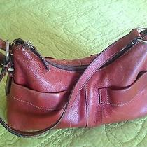 Fossil Handbag in Red Leather Photo