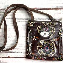 Fossil Handbag Key-Per Crossbody Messenger Shoulder Bag Purse Adjust Strap Brown Photo