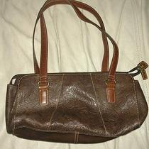 Fossil Handbag Leather Brown Authentic 75082 Leather Totes and Shoppers Photo