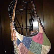 Fossil Handbagmulti-Color Patchwork Design Small Zippered Topman Made Photo