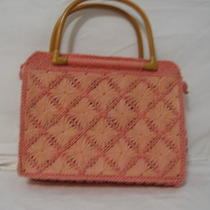 Fossil Handbag Pink Wicker Photo