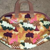 Fossil Handbag Purse Colorful Fall Pink Blue Brown Pockets Photo